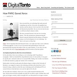 How PARC Saved Xerox