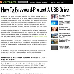 How To Password-Protect A USB Drive