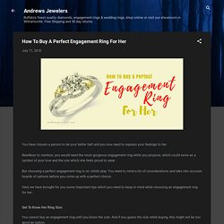 How To Buy A Perfect Engagement Ring For Her