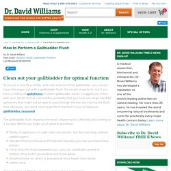 How to Perform a Gallbladder Flush