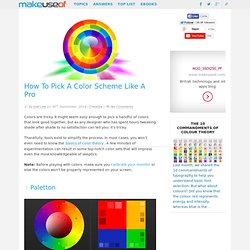 How To Pick A Color Scheme Like A Pro