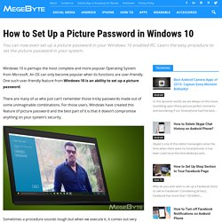 How to Set Up a Picture Password in Windows 10