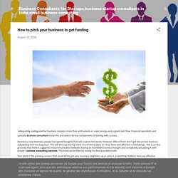 How to pitch your business to get funding