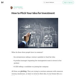 How to Pitch Your Idea for Investment