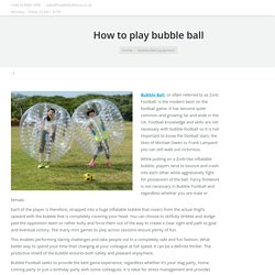 How to play bubble ball