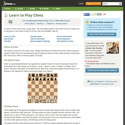 How to Play Chess: Rules & Basics