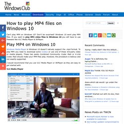 How to play MP4 files on Windows 10
