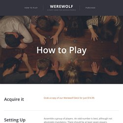 How to Play — Werewolf