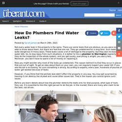 How Do Plumbers Find Water Leaks?