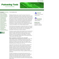 How Podcasting is Used