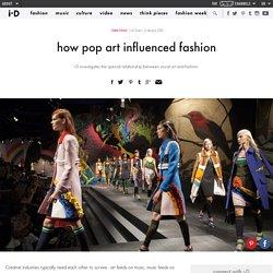 how pop art influenced fashion