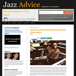 How to Practice Jazz Scales the Right Way