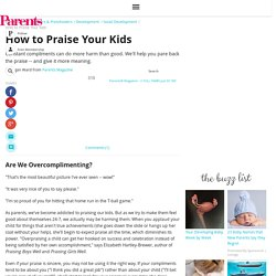 How to Praise Your Kids