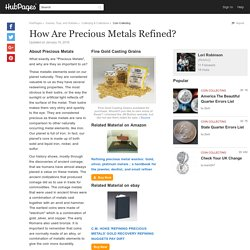 How Are Precious Metals Refined?