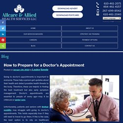 How to Prepare for a Doctor's Appointment