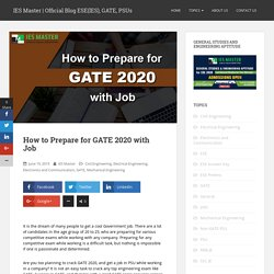 How to Prepare for GATE 2020 with Job