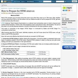 How to Prepare for NTSE 2020-21 by NTSE Guru