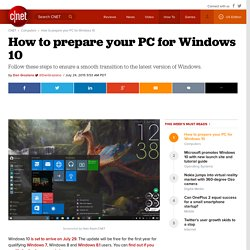 How to prepare your PC for Windows 10