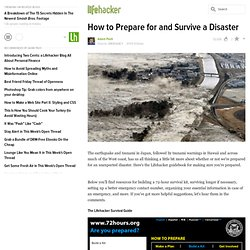 How to Prepare for and Survive a Disaster