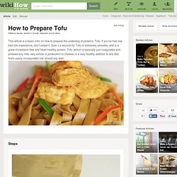 How to Prepare Tofu - wiki How