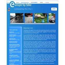How to prepare a trip by bike - Europe by bike