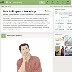 How to Prepare a Workshop: 9 Steps