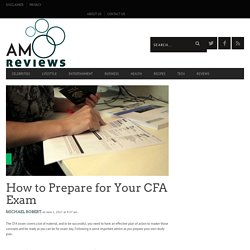 How tTo Prepare For Your CFA Exam