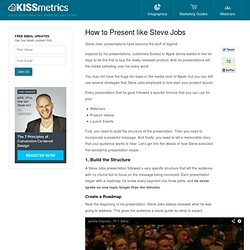 How to Present like Steve Jobs