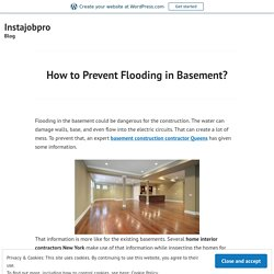 How to Prevent Flooding in Basement?