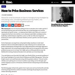 How to Price Business Services