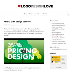 How to price design services