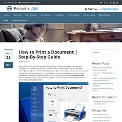 How to make easy printing a document from your printer