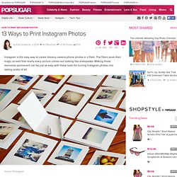 11 Ways to Print Instagram Photos