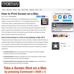 How to Print Screen on a Mac