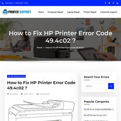 How to Fix HP Printer Error 49.4c02