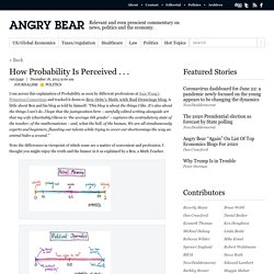 How Probability Is Perceived . . .