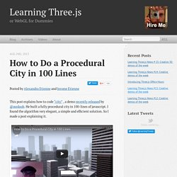 how to do a procedural city in 100 lines
