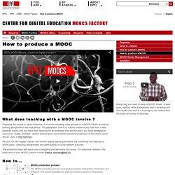 How to produce a MOOC