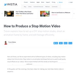 How to Produce a Stop Motion Video