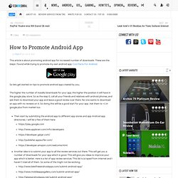 How to Promote Android App - TNC