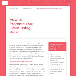 How to Promote your Event Using Video