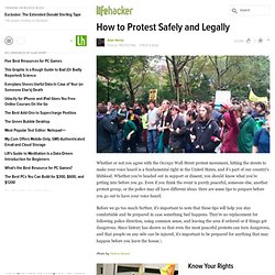 How to Protest Safely and Legally