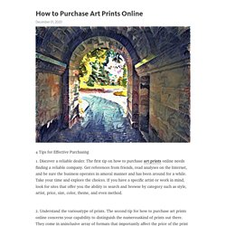 How to Purchase Art Prints Online