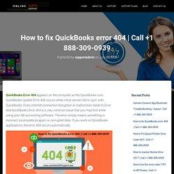How to fix QuickBooks error 404