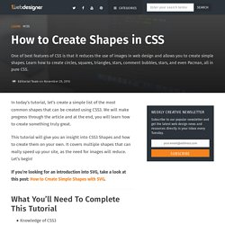 How to Quickly Create Shapes in Pure CSS