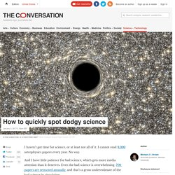 How to quickly spot dodgy science