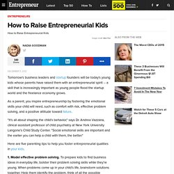 How to Raise Entrepreneurial Kids