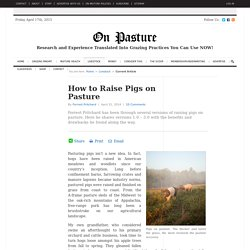 How to Raise Pigs on Pasture « On Pasture