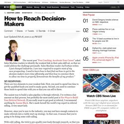 How to Reach Decision-Makers