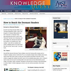 How to Reach the Dormant Readers